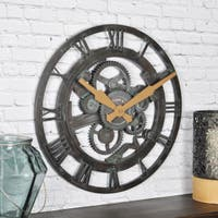 FirsTime & Co® Oxidized Gears Wall Clock