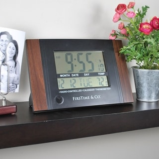 "FirsTime & Co® Executive Digital Clock - 11.5""H x 7.5""W x 1""D"