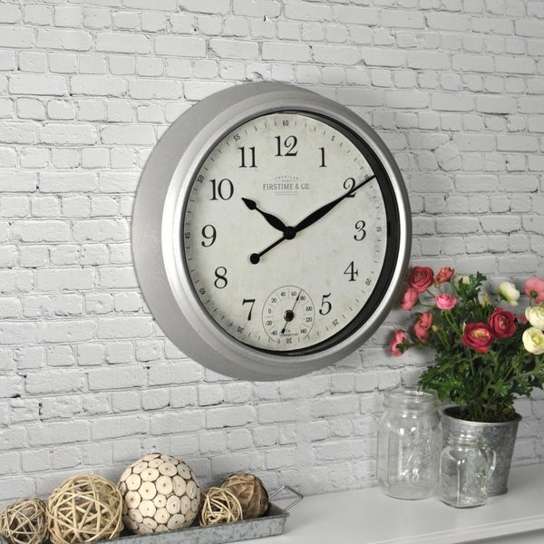 FirsTime & Co® Rustic Porch Outdoor Wall Clock - 14""