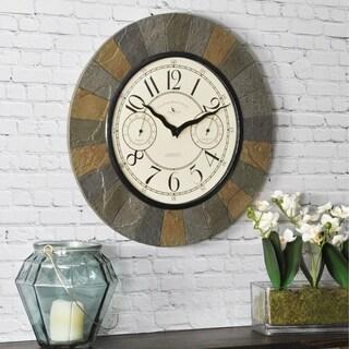 FirsTime & Co® Slate Garden Wall Clock