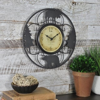 """FirsTime & Co® Wildlife Wire Clock - 11"""""""