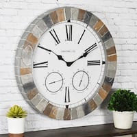 FirsTime & Co® Garden Stone Outdoor Clock