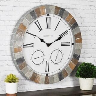 FirsTime & Co® Garden Stone Outdoor Clock