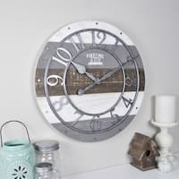 FirsTime & Co® Shabby Wood Wall Clock