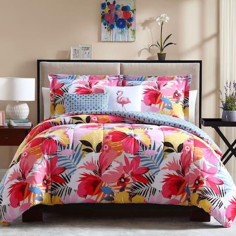 Lemon & Spice Lanai Floral 4 & 5 Piece Comforter Set