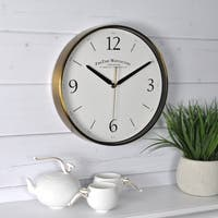 FirsTime & Co® Gold Metal Wall Clock