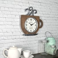 FirsTime & Co® Coffee House Wall Clock
