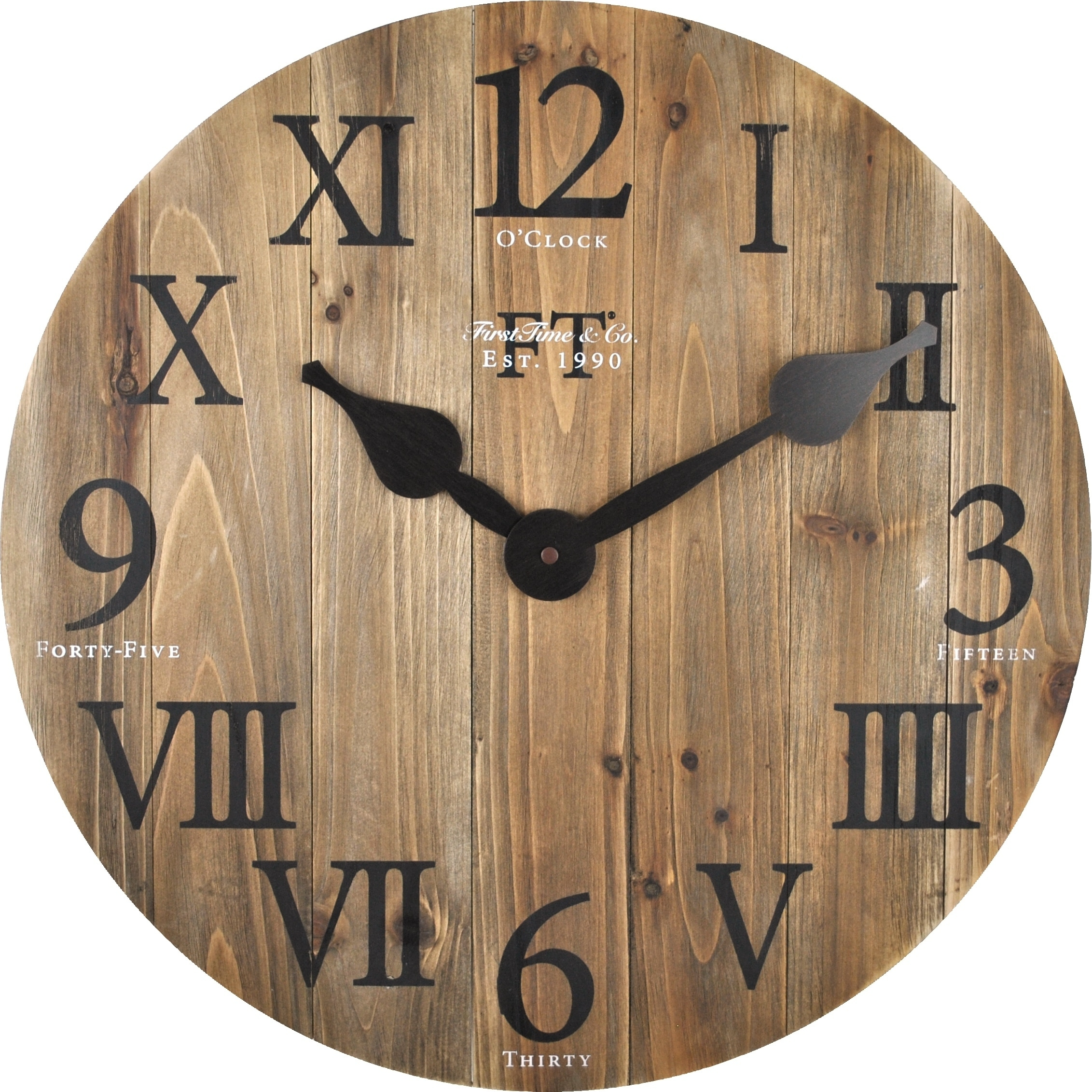 Shop FirsTime U0026 Co® Rustic Barn Wood Wall Clock   Free Shipping Today    Overstock   22735869