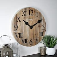 FirsTime & Co® Rustic Barn Wood Wall Clock - 18""