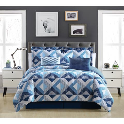 Lemon & Spice Geo Azul 6 & 7 Comforter Set
