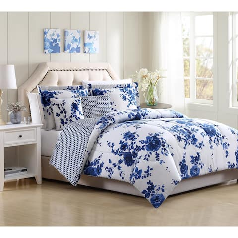 White Birch Bella Floral Reversible 4 & 5 Piece Comforter Set