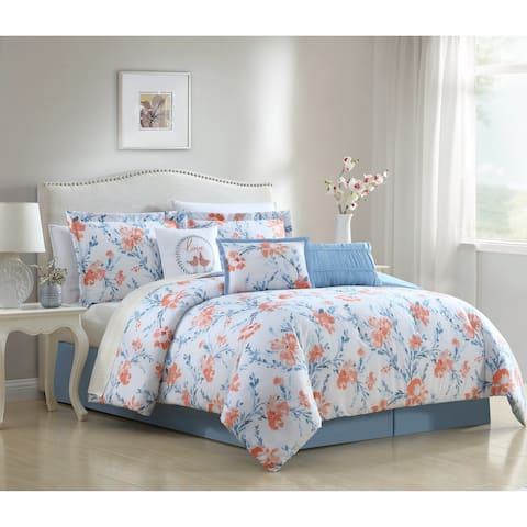 White Birch Carmela Floral 6 & 7 Piece Comforter Set