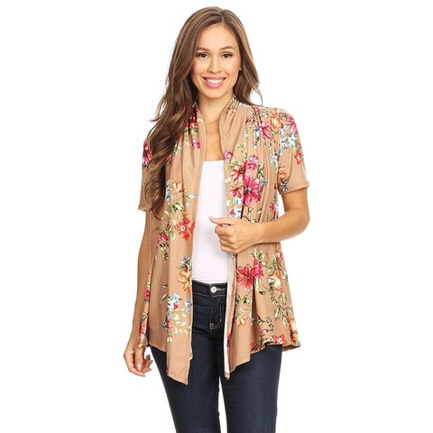 Women's Casual Print Hip Length Cardigan