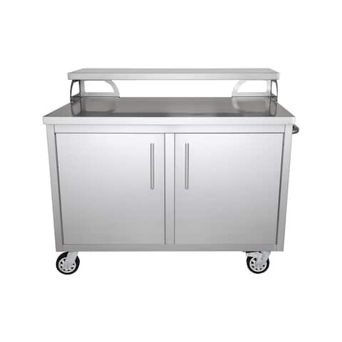 Portable Stainless Steel Outdoor Kitchen Cabinet & Patio Bar