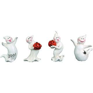 Mini Resin Ghost Figurine Set of 4