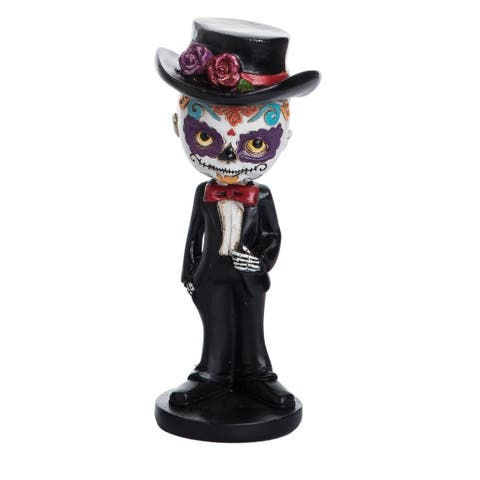 Resin Day of the Dead Male Bobble Head