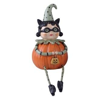 Resin Trick-Or-Treat Pumpkin Lady Shelf Sitter