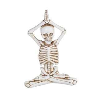 Resin Yoga Skeleton Figurine