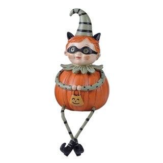 Resin Trick-Or-Treat Pumpkin Man Shelf Sitter