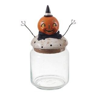 Resin &Glass Pumpkin Peeps Container
