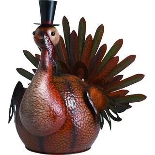 Large Metal Harvest Turkey Figurine