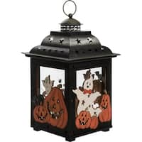 Large Metal & Plywood Halloween Lantern