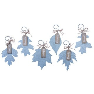 Tin Fall Leaf Ornament Set of 6