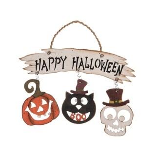 Plywood Happy Halloween Sign