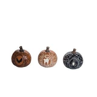 Small Resin Vintage Vibes Pumpkin Set of 3