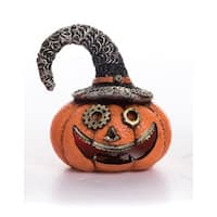 Resin Light Up Steampunk Pumpkin Figurine