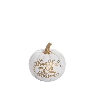 Resin Thankful & Blessed Pumpkin