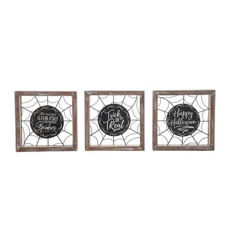Wood Framed Web Sign