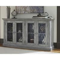 Signature Design by Ashley Mirimyn 4-Door Antique Grey Accent Cabinet