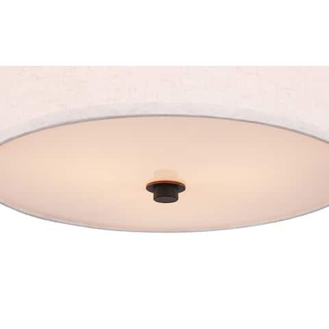 Woodbridge Lighting 15830MEB-S11500 Energy Saving Hudson Flush Mount