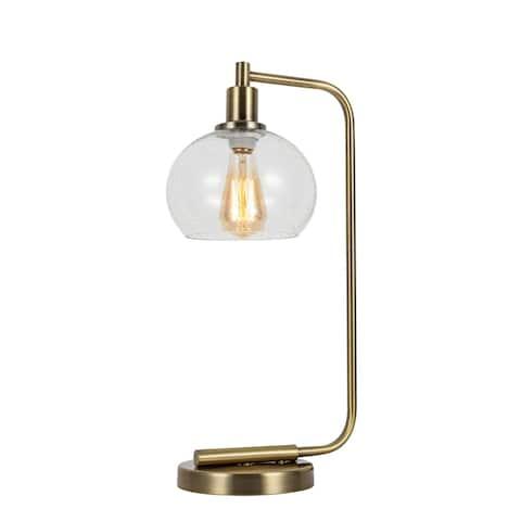 Woodbridge Lighting 14781WL-C00805 Alaina Clear Seedy Ball Table Lamp w/ ST64 Bulb