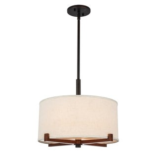 Woodbridge Lighting Brendan 3-light Wooden Frame Pendant