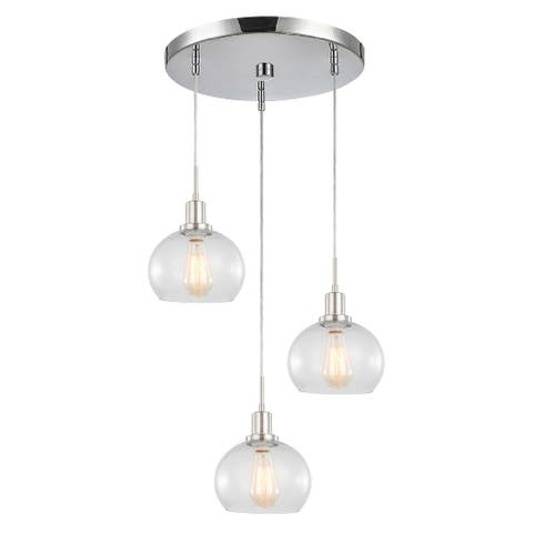 Woodbridge Lighting 17824WL-C00805 Austin 3-light Clear Seedy Ball Mini-pendant Cluster w/ ST64 Bulb