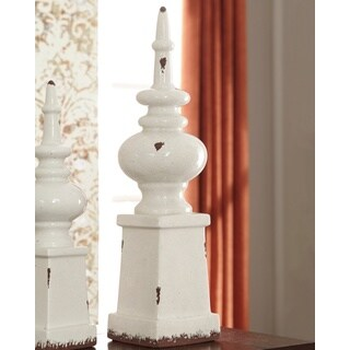 Signature Design by Ashley Diem Antique White Finial