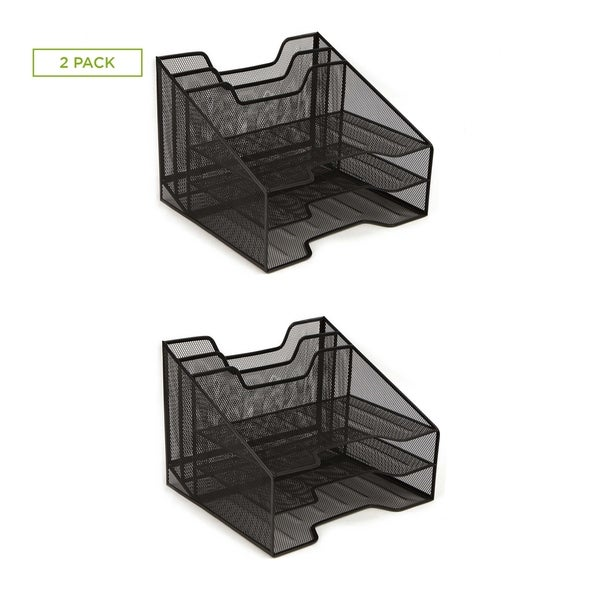 Shop Mind Reader Mesh Desk Organizer 5 Trays Desktop