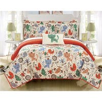 Chic Home Wymper 4 Piece Reversible Quilt Set Animal Friends Youth Design