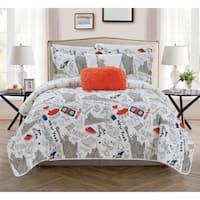 Chic Home Bay Park 5 Piece Reversible Quilt Set Bay Park City Design