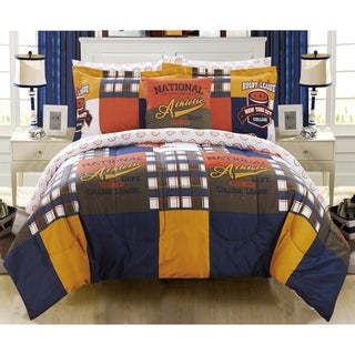 Chic Home Kluber 8 Piece Reversible Patchwork Print Athletic Youth Comforter Set