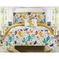 Chic Home Tiggy 8 Piece Reversible Cute Animal Friends Youth Comforter Set