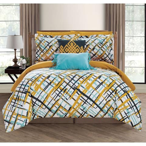 Chic Home Miro 9 Piece Reversible Miro Print Comforter Set