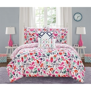 Link to Chic Home Audley 9 Piece Reversible Colorful Floral Print Comforter Set Similar Items in Kids Comforter Sets