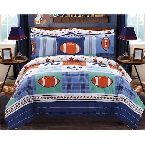 Chic Home Howard 8 Piece Reversible Athletic Youth Comforter Set