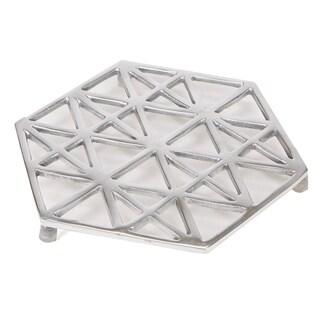 Mind Reader Trivet, Home Décor for Counter Top, Kitchen, Dining Room, Keeps Tabletops Safe, Silver