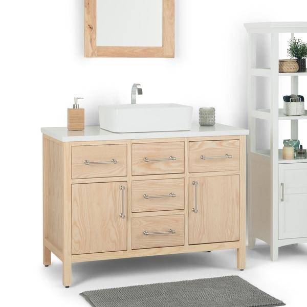 Shop Wyndenhall Farley 42 Inch Modern Bath Vanity With White