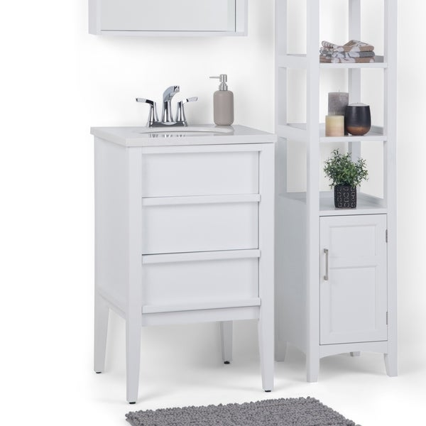 Shop Wyndenhall Dustin 20 Inch Modern Bath Vanity With White Veined