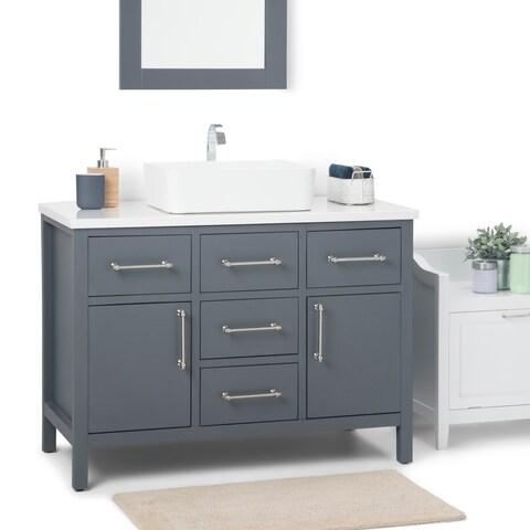 WYNDENHALL Patton 42 inch Bath Vanity with White Top